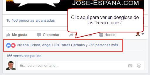Nuevas Reacciones Facebook - Clic Para Obtener Estadísticas