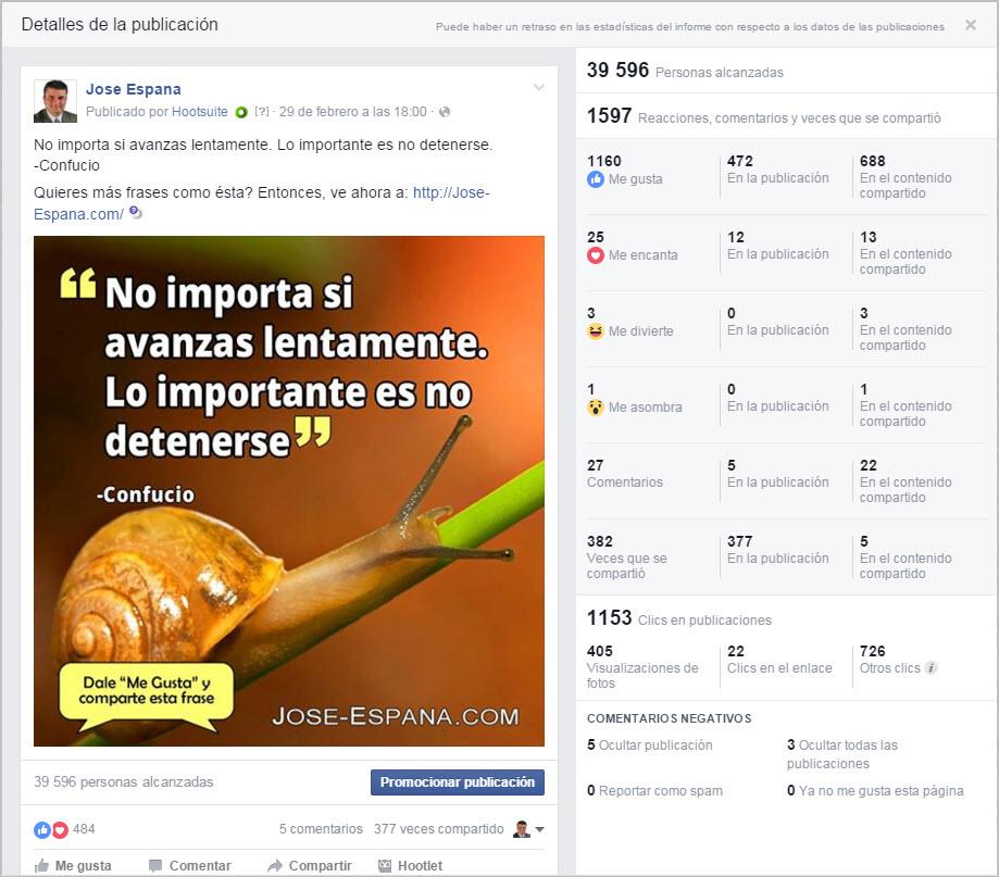 Nuevas Reacciones Facebook - Estadísticas de Reacciones